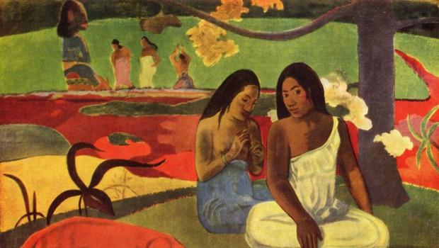 Paul Gauguin en el taller-Tahití de los tristes trópicos