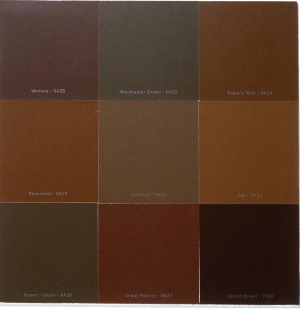 Gallery for brown paint color swatch - What colors match with brown ...