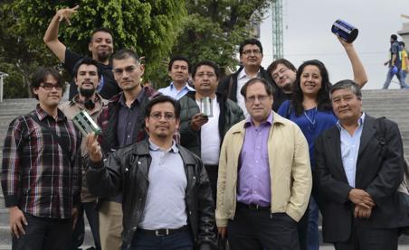 Gerard Auvray en el primer encuentro de nano-satélites, México (2013)