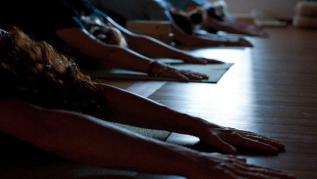 La clase de yoga