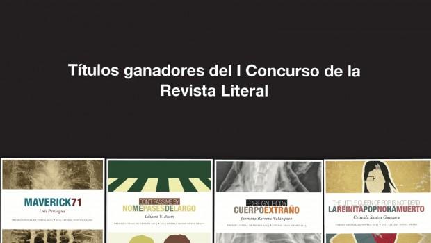 Programa de presentaciones de los libros ganadores del Premio Literal