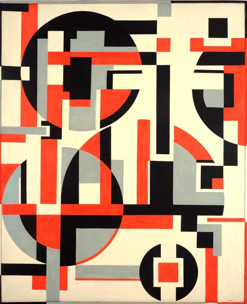 Sandu Darié, Sin título (Untitled), c. 1960–70, tempera on canvas, Ella Fontanals-Cisneros Collection, Miami.